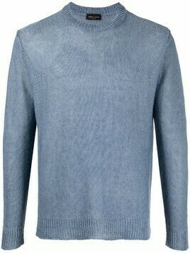 Roberto Collina faded crew-neck sweatshirt - Blue