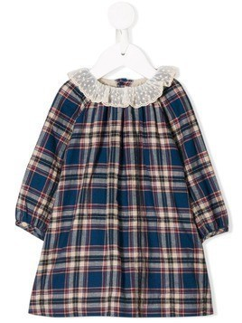 Bonpoint checked dress - Blue