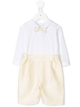 La Stupenderia bow-tie shorts suit - White