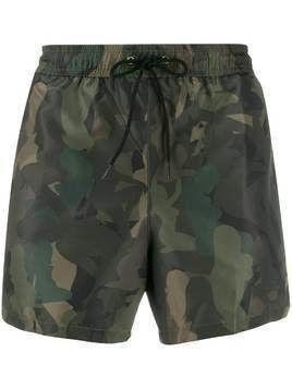 Paul Smith camouflage print swim shorts - Green