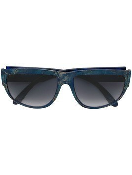 Yves Saint Laurent Pre-Owned mosaic-effect gradient sunglasses - Blue