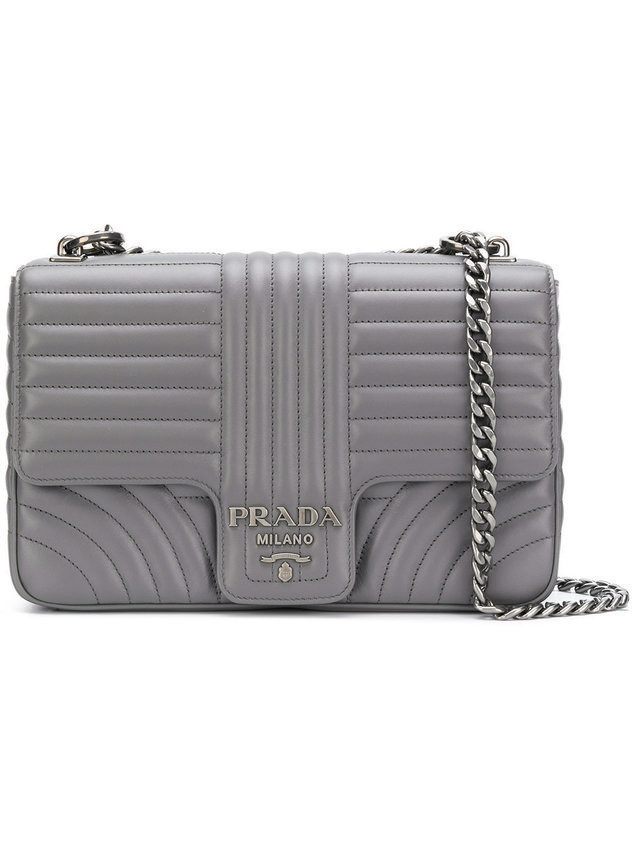 Prada Prada Diagramme shoulder bag - Grey
