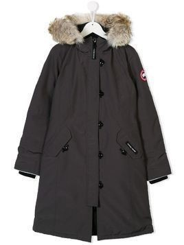 Canada Goose Kids TEEN hooded parka coat - Grey