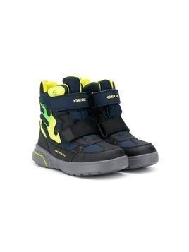 Geox Kids touch strap fastening boots - Blue