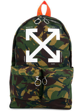 Off-White - camouflage backpack - unisex - Cotton/Polyester - One Size - Green