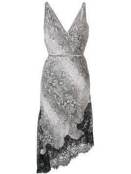 Gold Hawk grey python dress