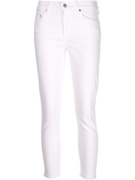 Citizens Of Humanity crop rocket highrise jeans - White