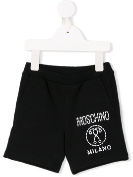 Moschino Kids Double Question Mark shorts - Black