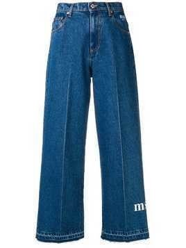 MSGM cropped wide leg jeans - Blue