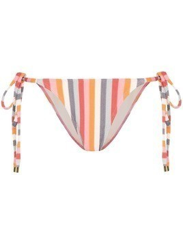 Peony rainbow stripe bikini bottoms - Blue
