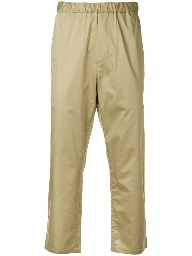 OAMC straight leg cropped trousers - Neutrals