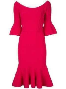 Hervé Léger Off The Shoulder Braided dress - Red