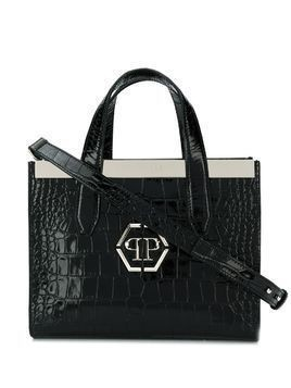Philipp Plein croc-effect tote bag - Black