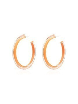 Alison Lou Jelly medium hoop earrings - Orange