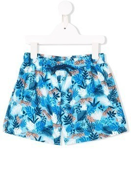 Sunuva jungle print swim shorts - Blue