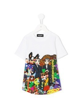 Dsquared2 Kids printed T-shirt - White