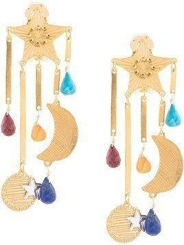 Mercedes Salazar star and moon earrings - Gold