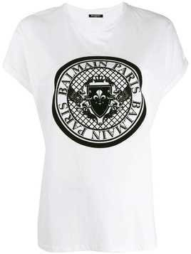 Balmain medallion print T-shirt - White