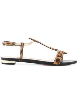Aquazzura Vogue leopard sandals - Nude & Neutrals