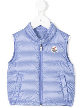 Moncler Kids feather down quilted gilet - Blue