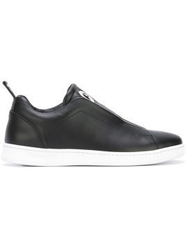 Dondup - slip-on sneakers - Damen - Calf Leather/rubber/Leather - 34 - Black