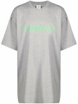 VETEMENTS graphic-print cotton T-Shirt - Grey