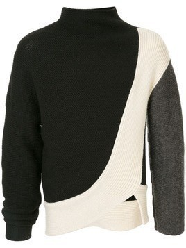 Kiko Kostadinov two-tone knit jumper - Black