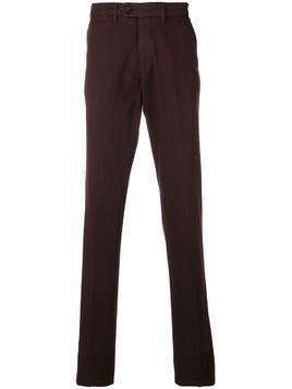 Canali slim-fit chino trousers - Red