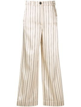 Nehera striped flared trousers - NEUTRALS