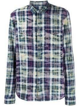 John Varvatos plaid shirt - Blue