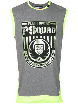 Plein Sport printed sports top - Grey