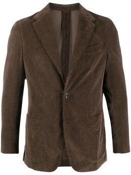 Caruso fitted corduroy jacket - Brown