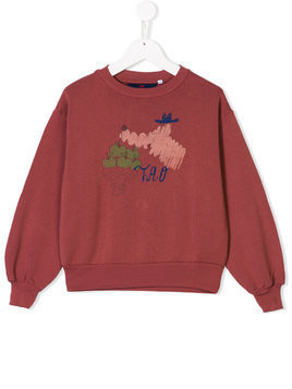 The Animals Observatory apple printed sweatshirt - Red