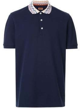 Missoni printed collar polo shirt - Blue