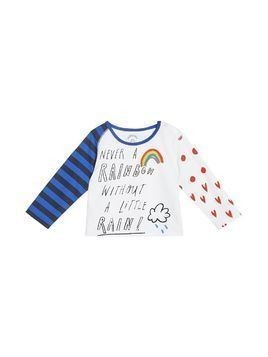 Burberry Kids Long-sleeve Rainbow Graphic Cotton Top - White