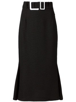 Edeline Lee buckle pencil skirt - Black