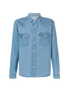 Ami Alexandre Mattiussi Ami Fit Denim Shirt - Blue