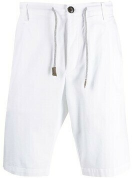 Eleventy drawstring chino shorts - White