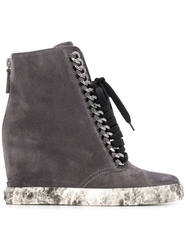 Casadei wedged sneakers - Grey