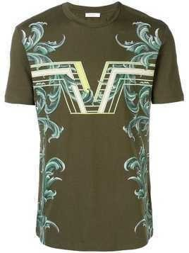 Versace Collection Rib Pattern Tee - Green
