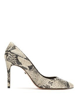 Schutz snake print effect pumps - White