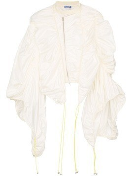 Mugler exaggerated sleeve jacket - White