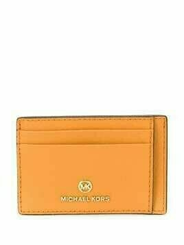 Michael Michael Kors calf leather cardholder with multiple slip pockets - ORANGE