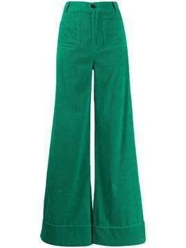 Roberto Collina corduroy wide-leg trousers - Green