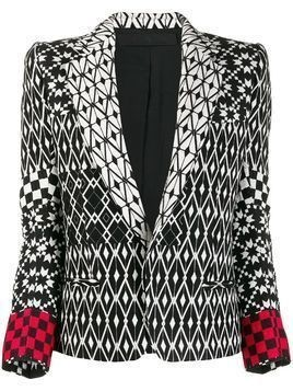 Haider Ackermann pattern mix blazer - Black