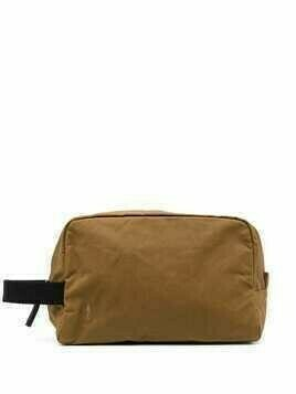 Ally Capellino zipped wash bag - Brown
