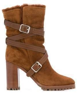 Gianvito Rossi buckled ankle boots - Brown
