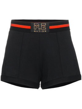 P.E Nation Just For Kicks cotton shorts - Black