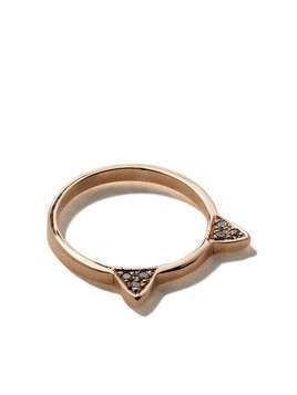 Jacquie Aiche 14kt rose gold mini Kitty diamond ring