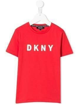 Dkny Kids short sleeve logo print T-shirt - Red